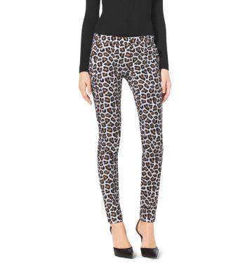 ad60c2a30a60 Leopard-Print Skinny Jeans   Michael Kors