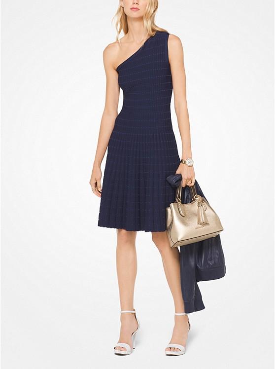 Asymmetrical Stretch-Knit Dress