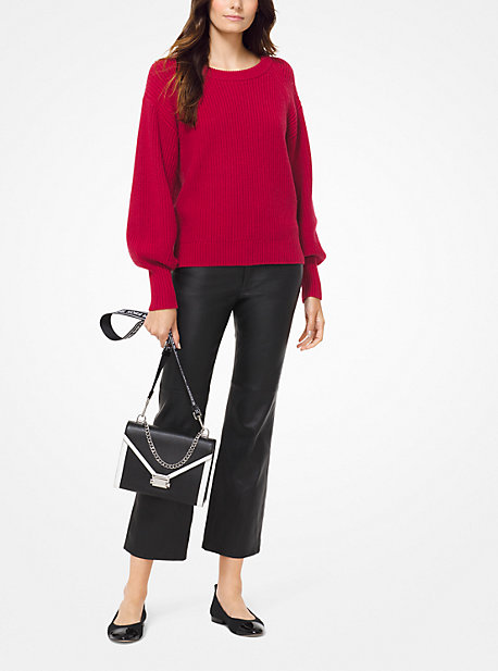 59f946400dc1 Ribbed Knit Blouson-Sleeve Sweater. Find a Store. Sign Up for updates from Michael  Kors