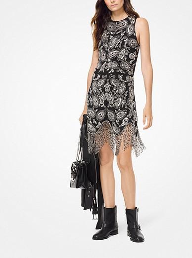 76a52b36b85 Paisley Embellished Fringe Dress