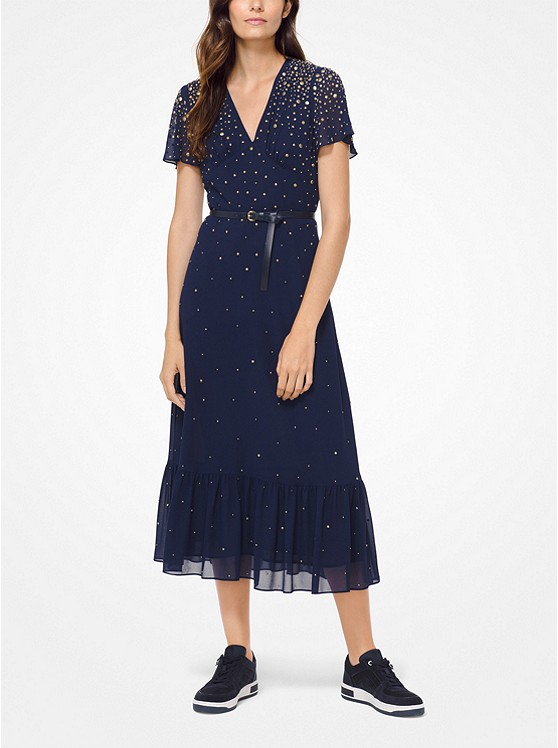 Studded Georgette Dress by Michael Michael Kors
