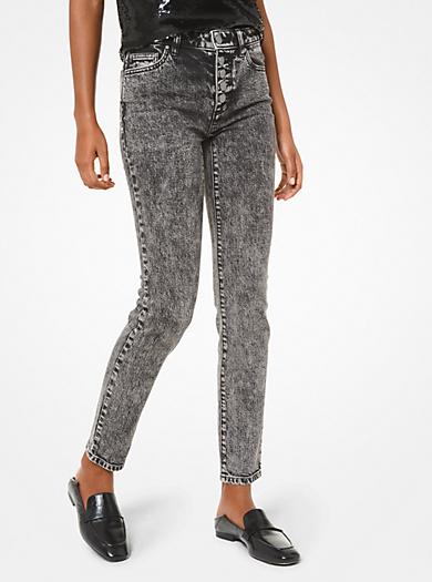 Jeans in cotone stretch a lavaggio acido