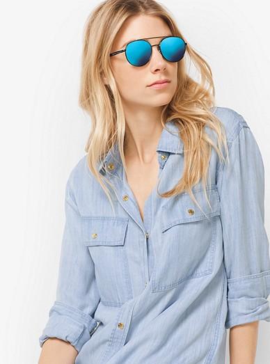 88a7a1539 Lon Rounded Aviator Sunglasses | Michael Kors