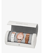 Libby Pavé Rose Gold-Tone Interchangeable Watch Set