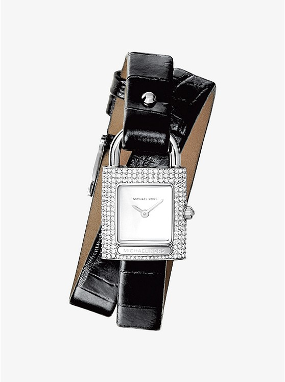 Isadore Embossed Leather Wrap Watch