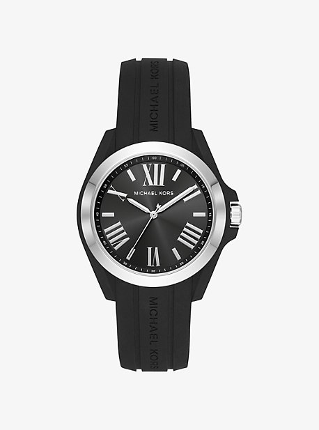 83f91a5972d6 Bradshaw Silver-Tone and Silicone Watch
