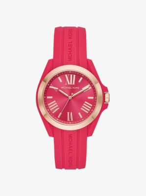 Montre Bradshaw De Ton Or Rose En Silicone by Michael Kors