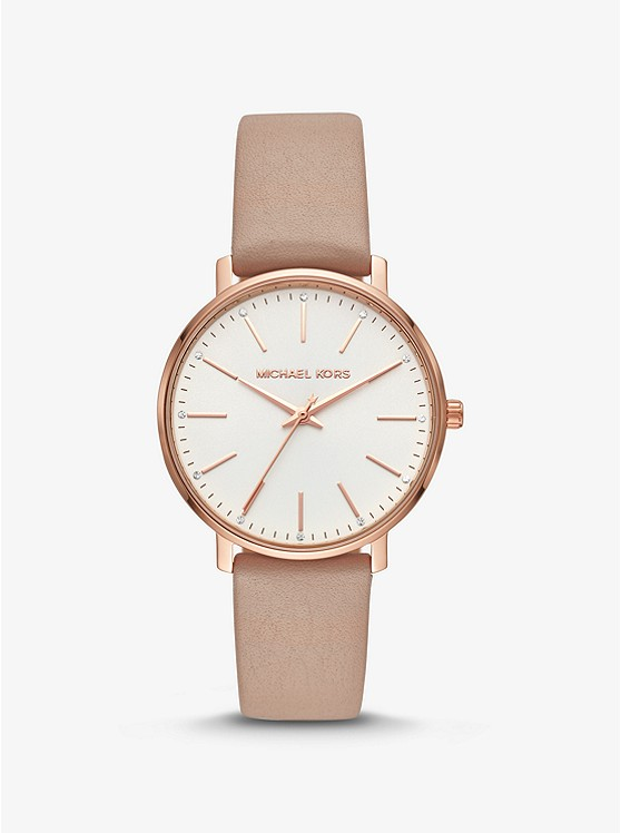 8f8a3601a6cc Pyper Rose Gold-tone And Leather Watch