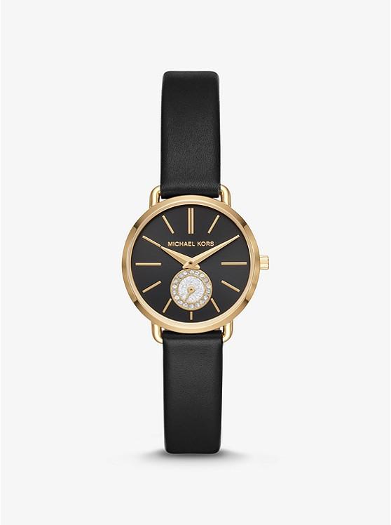 Petite Kors Tono Portia De En Dorado PielMichael Reloj LVpUSGzMq