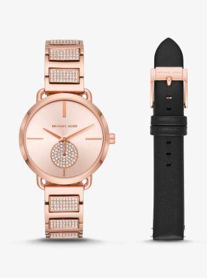 fbd14ee3be26 Portia Rose Gold-Tone Watch Set