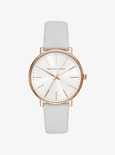 0b9755406016d9 Pyper Rose Gold-tone And Leather Watch | Michael Kors