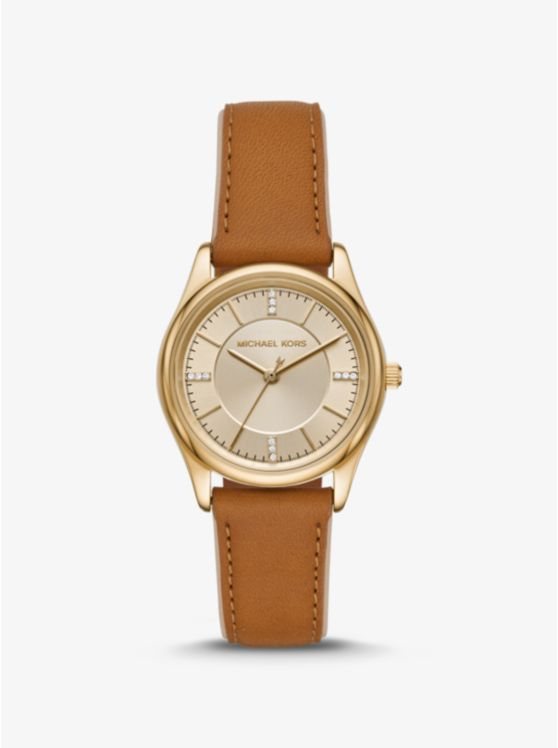 Colette Gold-Tone and Leather Watch