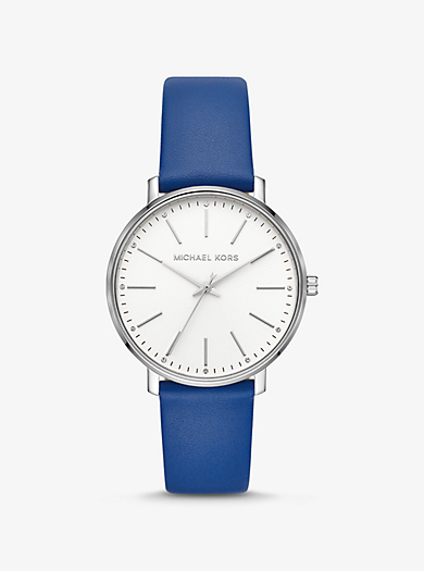 a69e7d621396 Reloj Pyper en tono plateado de piel