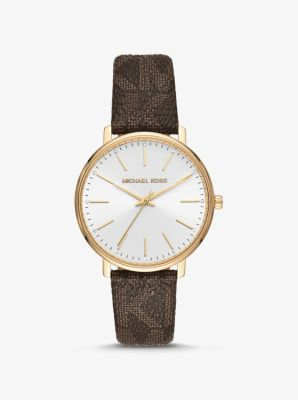 Pyper Logo And Gold Tone Watch by Michael Kors