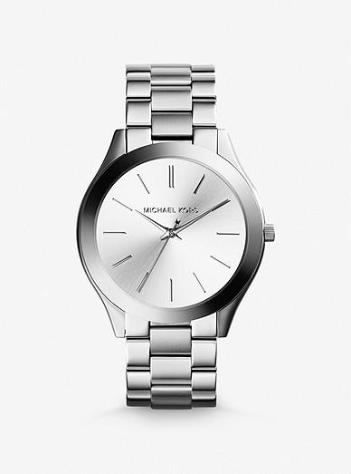Slim Runway Silver Tone Watch Michael Kors