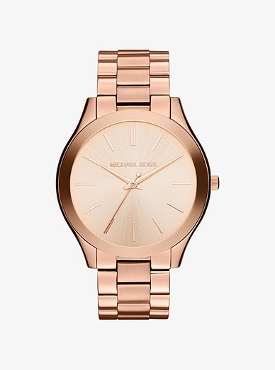 f19e876249 Oversized Slim Runway Rose Gold-tone Watch