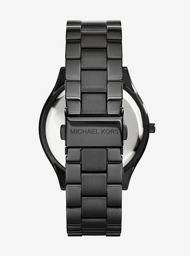 Slim Runway Black Stainless Steel Watch Michael Kors