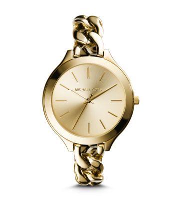 d3cfc55ae5b11 Slim Runway Gold-tone Chain-link Watch