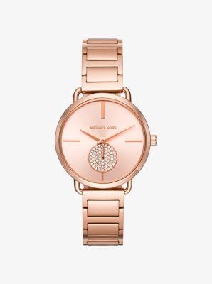 마이클 코어스 시계 Michael Kors Portia Rose Gold-Tone Watch,ROSE GOLD