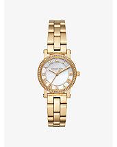 Petite Norie Pavé Gold-Tone Watch