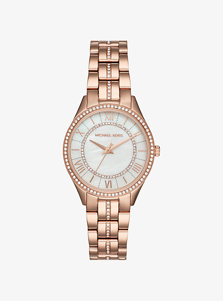 2ad0422ccc12 Mini Lauryn Pavé Rose Gold-Tone Watch. michael kors ...