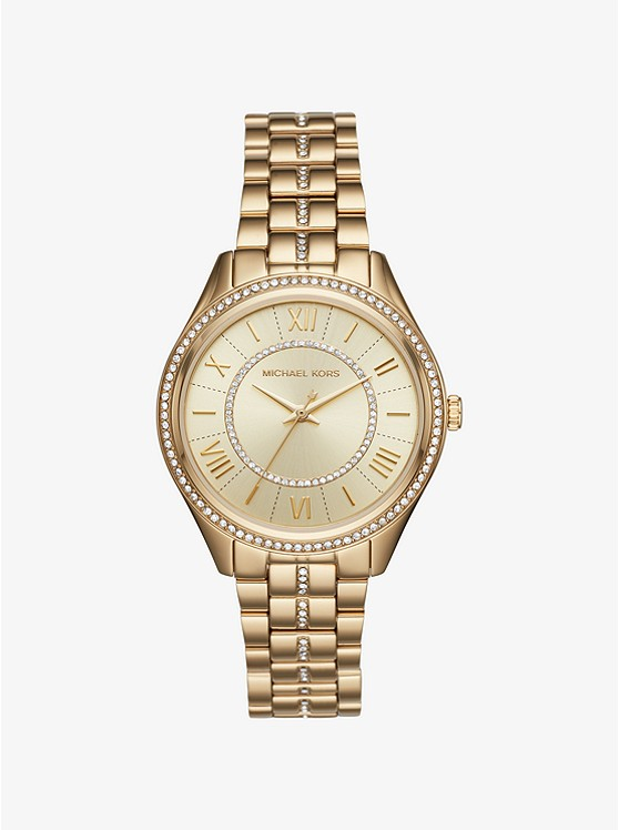 Lauryn Pavé Gold-Tone Watch