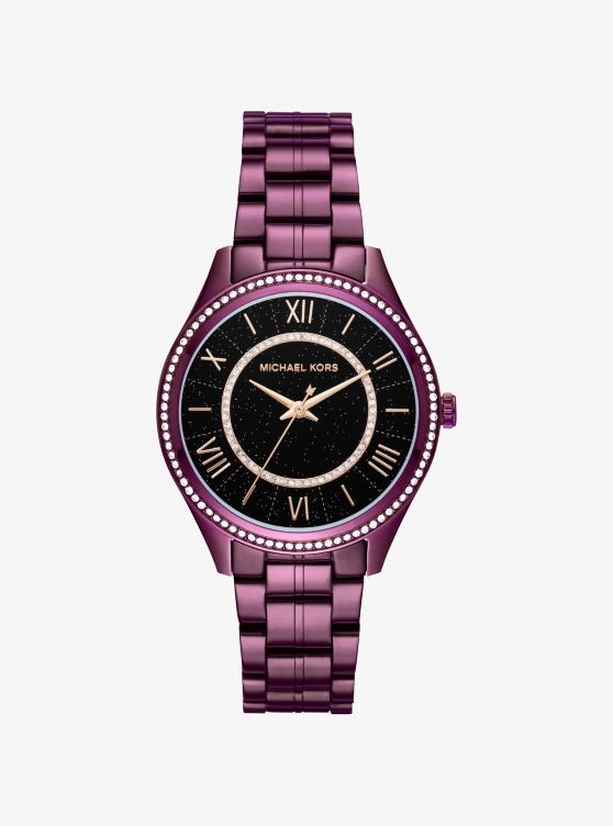 Lauryn Celestial Pavé Plum-Tone Watch