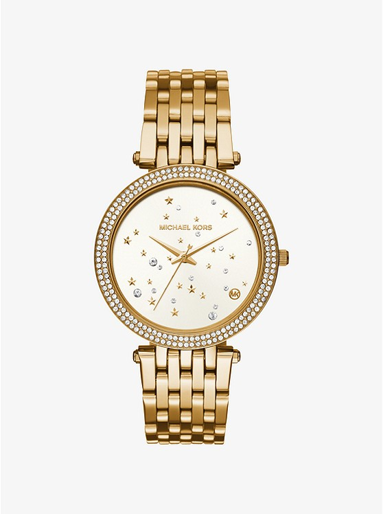 Darci Celestial Pavé Gold-Tone Watch