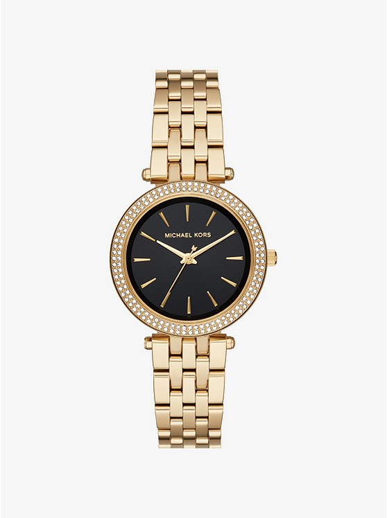 Mini Darci Pavé Gold-Tone Watch