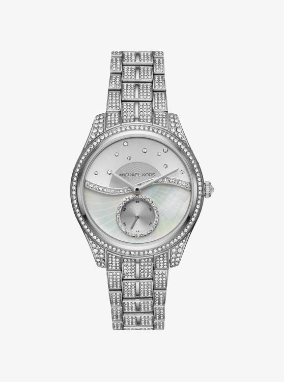 Lauryn Celestial Pavé Silver-Tone Watch