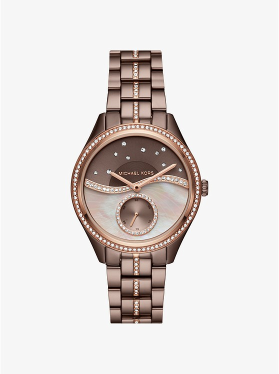 Lauryn Celestial Pavé Sable-Tone Watch