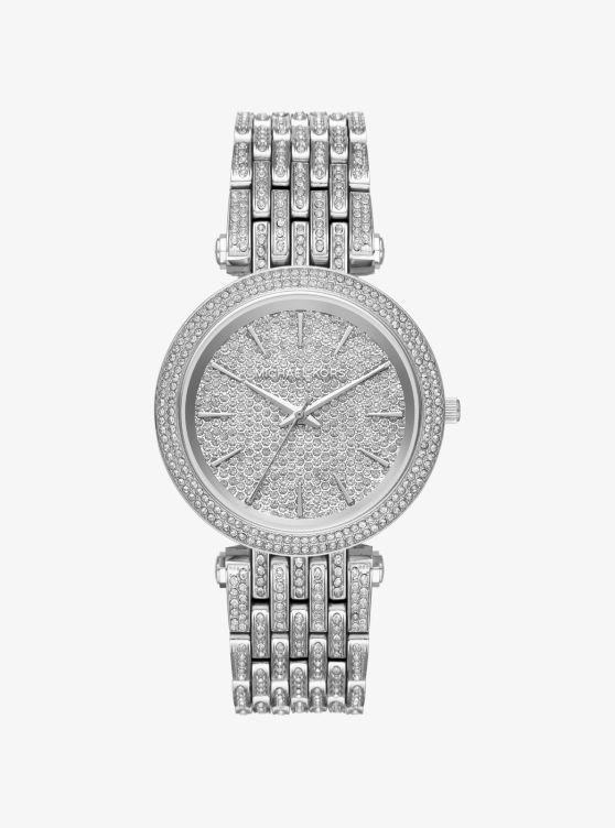 Darci Pavé Silver-Tone Watch