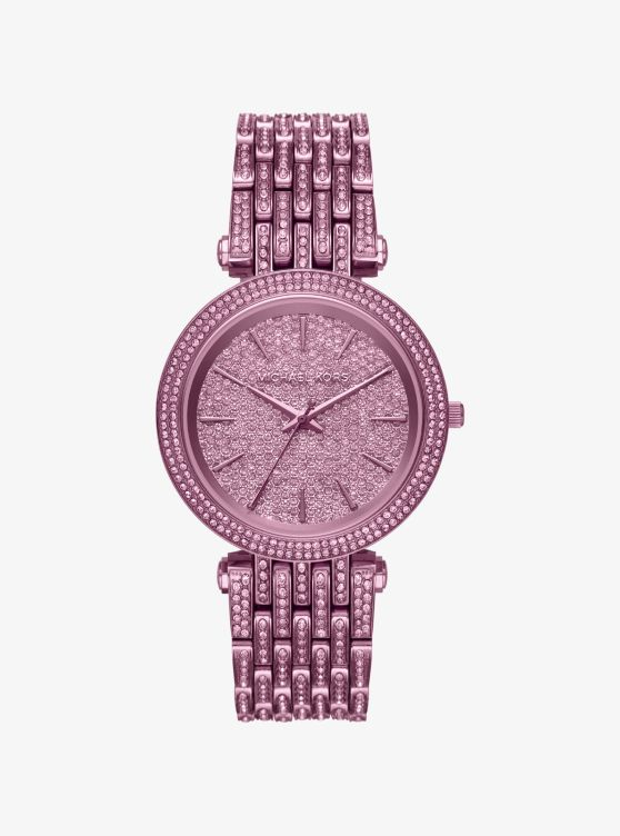 Darci Pavé Plum-Tone Watch