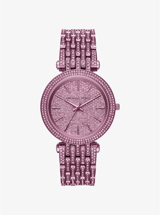 Darci Pavé Plum-Tone Watch
