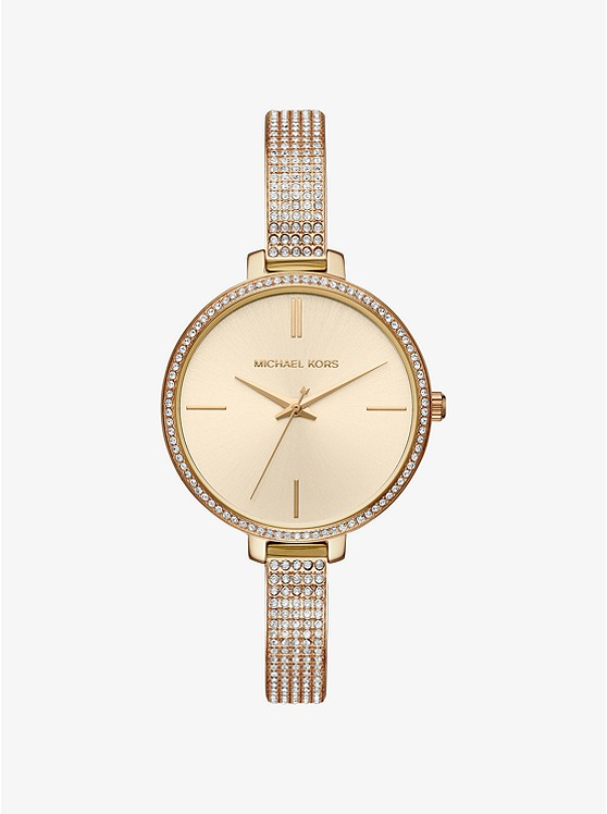 Jaryn Pavé Gold-Tone Watch