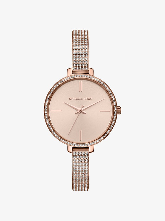 Jaryn Pavé Rose Gold-Tone Watch