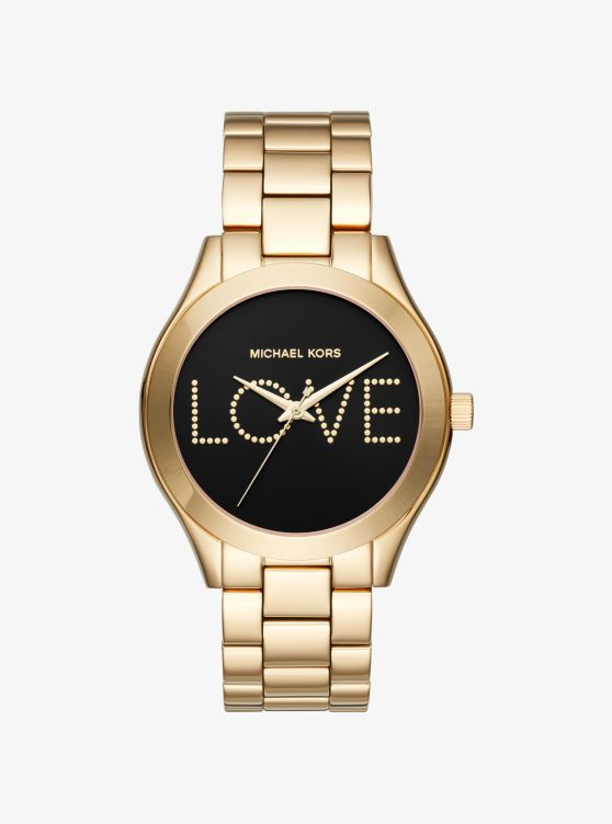 Slim Runway Love Gold-Tone Watch