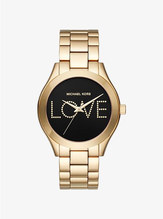 Slim Runway Love Gold-Tone Watch