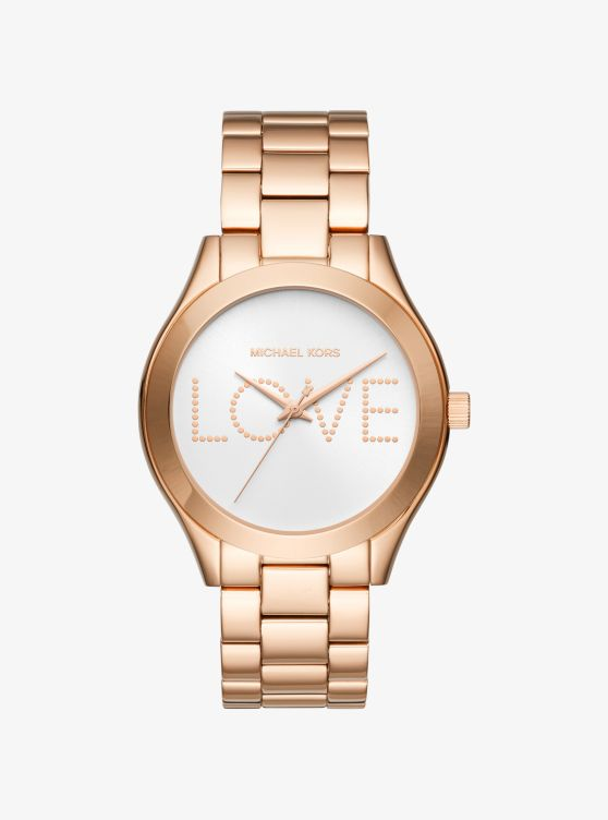 Slim Runway Rose Gold-Tone Watch