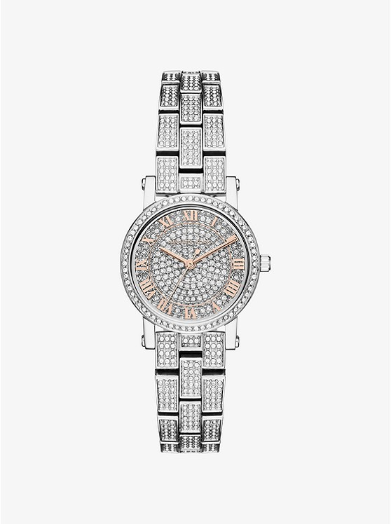 Petite Norie Pavé Silver-Tone Watch