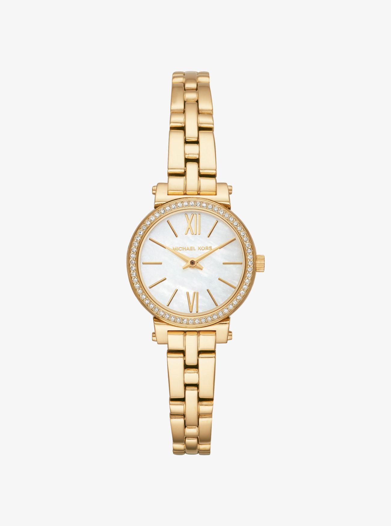 157793e64e86 Petite Sofie Pavé Gold-tone Watch