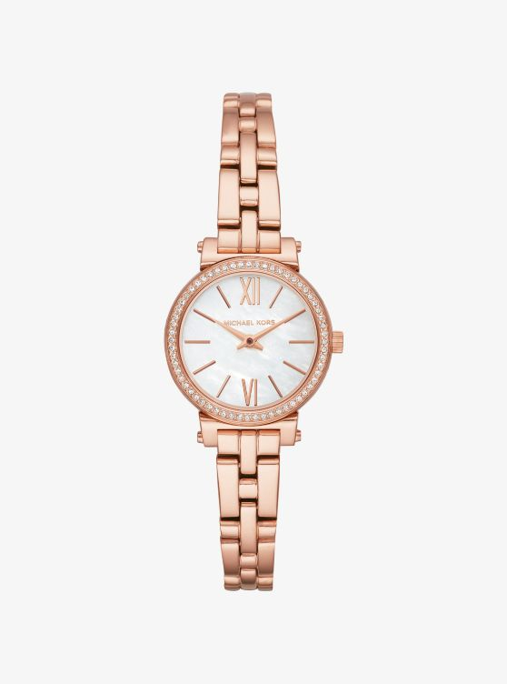 Petite Sofie Pave Rose Gold Tone Watch Michael Kors