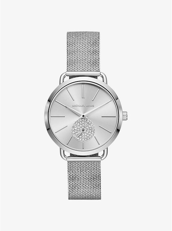 Portia Mesh Silver-Tone Watch