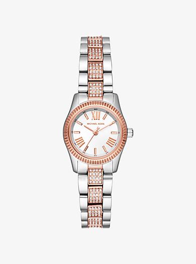 b03c758d8a5 Petite Lexington Pavé Two-Tone Watch · michael kors ...