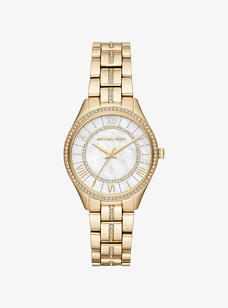7a77eb9b7a3a Mini Lauryn Pavé Gold-Tone Watch