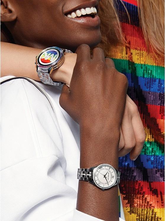 392b6bffbde1 Mini Lauryn Pavé Silver-tone Watch