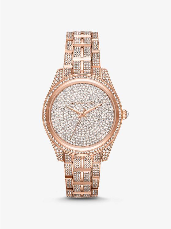 852c23febef4 Lauryn Pavé Rose Gold-Tone Watch ...