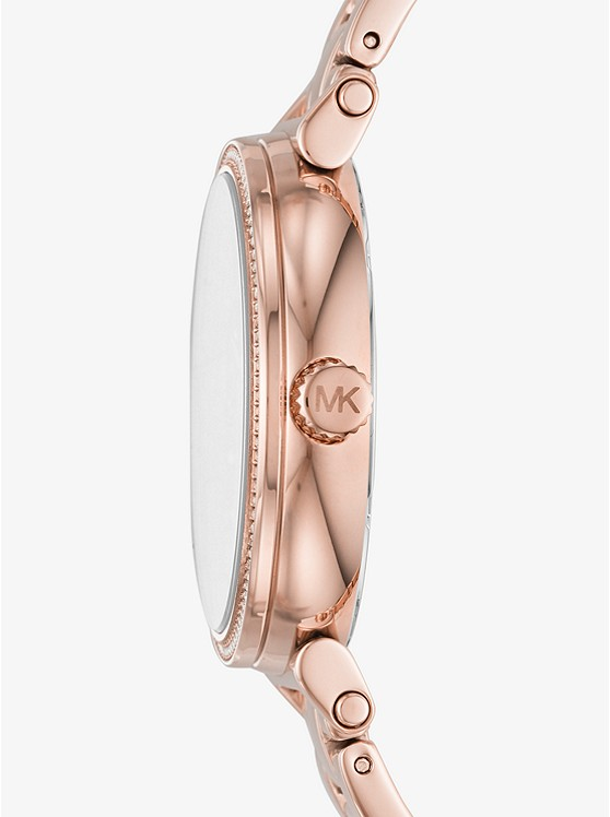 Sofie Pave Rose Gold Tone Watch Michael Kors