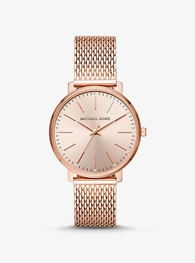 Pyper Rose Gold Tone Mesh Watch
