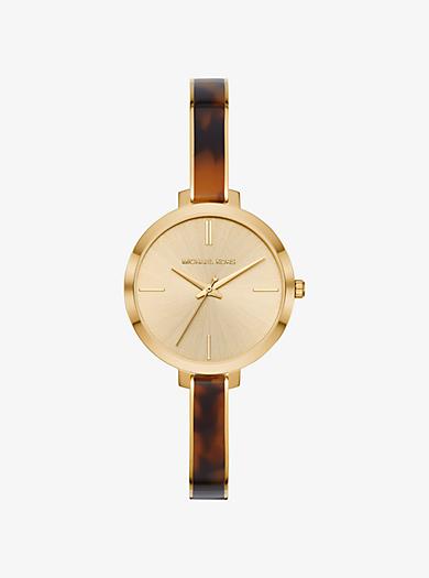 Orologio Jaryn tonalità oro con cinturino in acetato 6f9df031be1